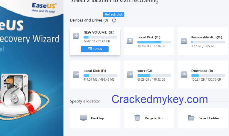EaseUS Data Recovery Wizard Pro 13.6.0 Crack + License Code Download