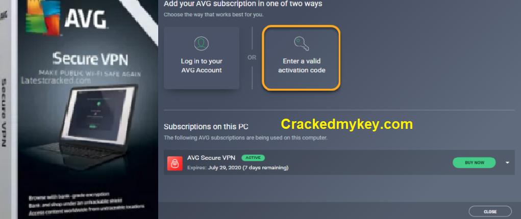 AVG Secure VPN Keys